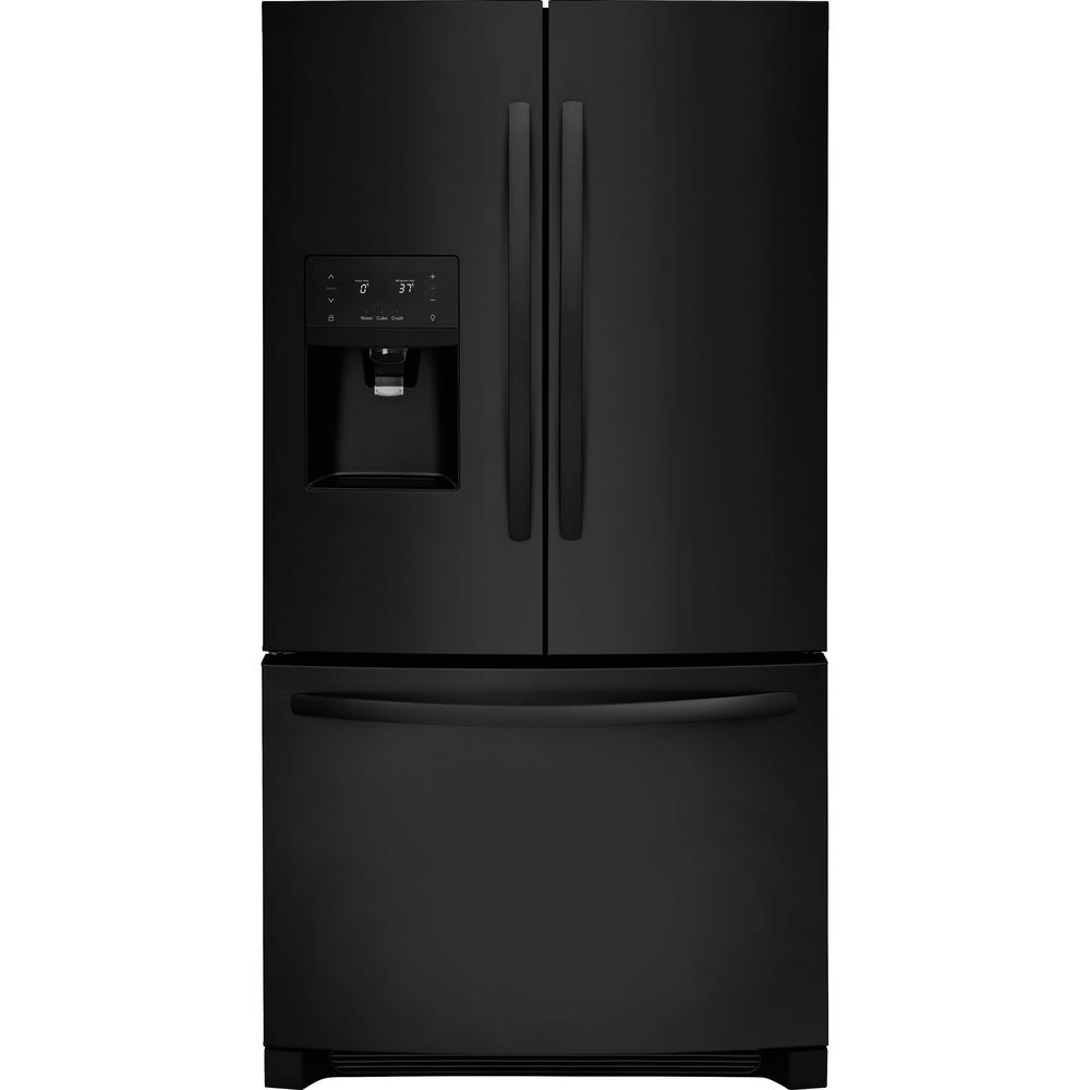 Frigidaire 26 8 Cu Ft French Door Refrigerator In Ebony