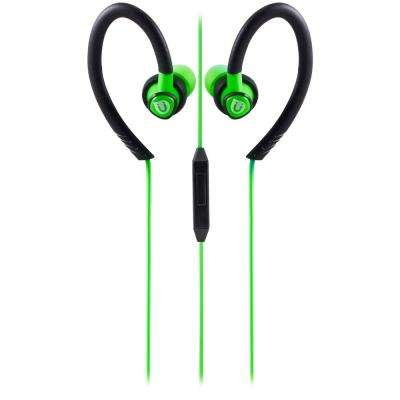 Sports Clip Earbuds with Mic Active, Green