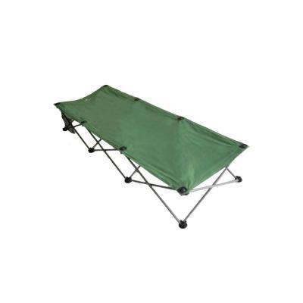 13.75 in. H x 72.5 in. L Folding Camping Green Cot