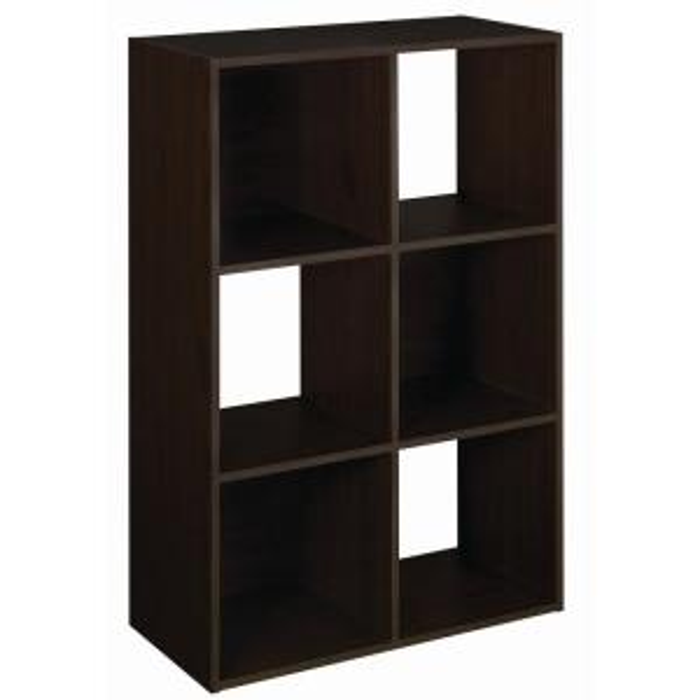 H Espresso Stackable 6 Cube Organizer. ClosetMaid ...