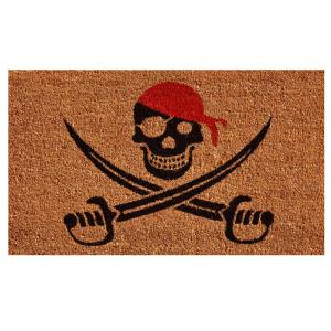 Home & More Pirate Door Mat 17 inch x 29 in. by Home & More