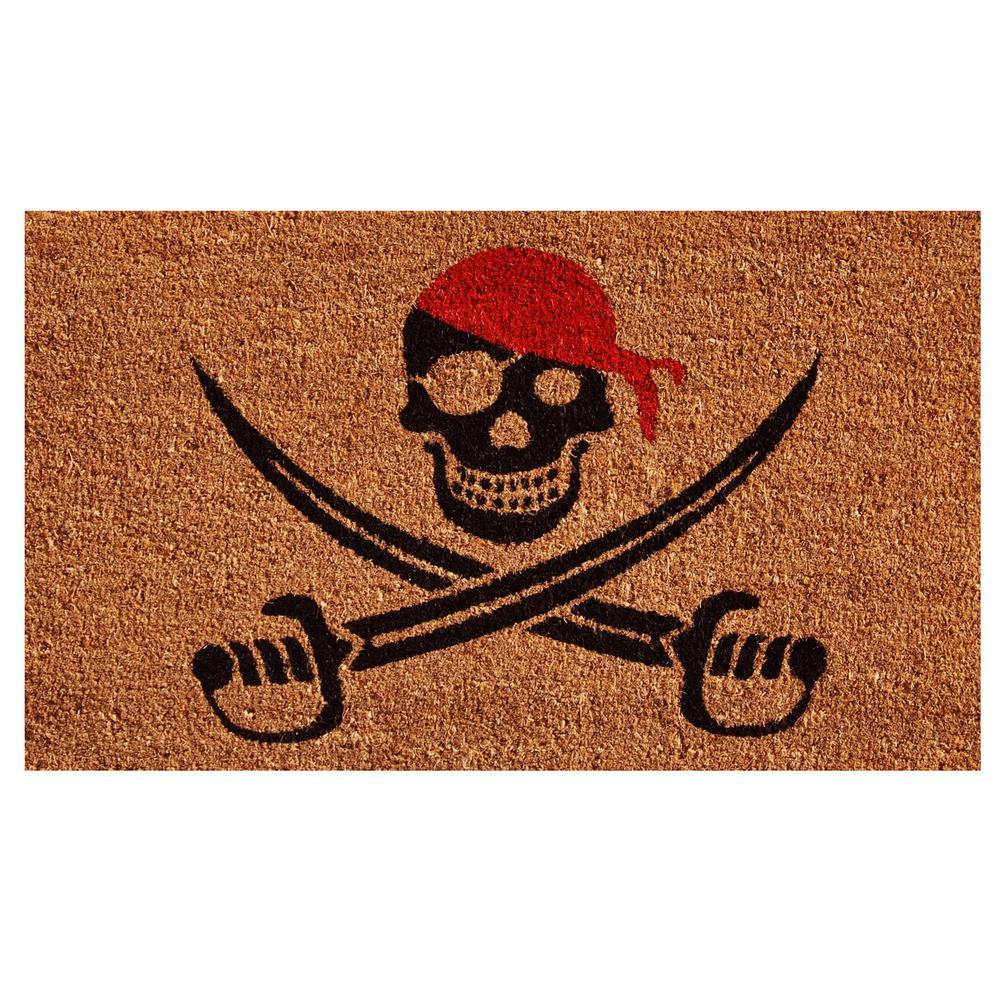 Pirate Door Mat 17 in. x 29 in.