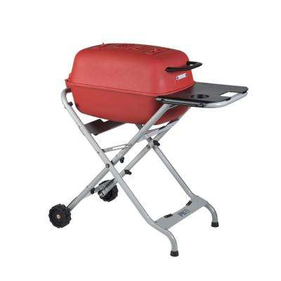 PK Grills Original PK-TX Cast Aluminum Charcoal Grill and Smoker in Matte Red