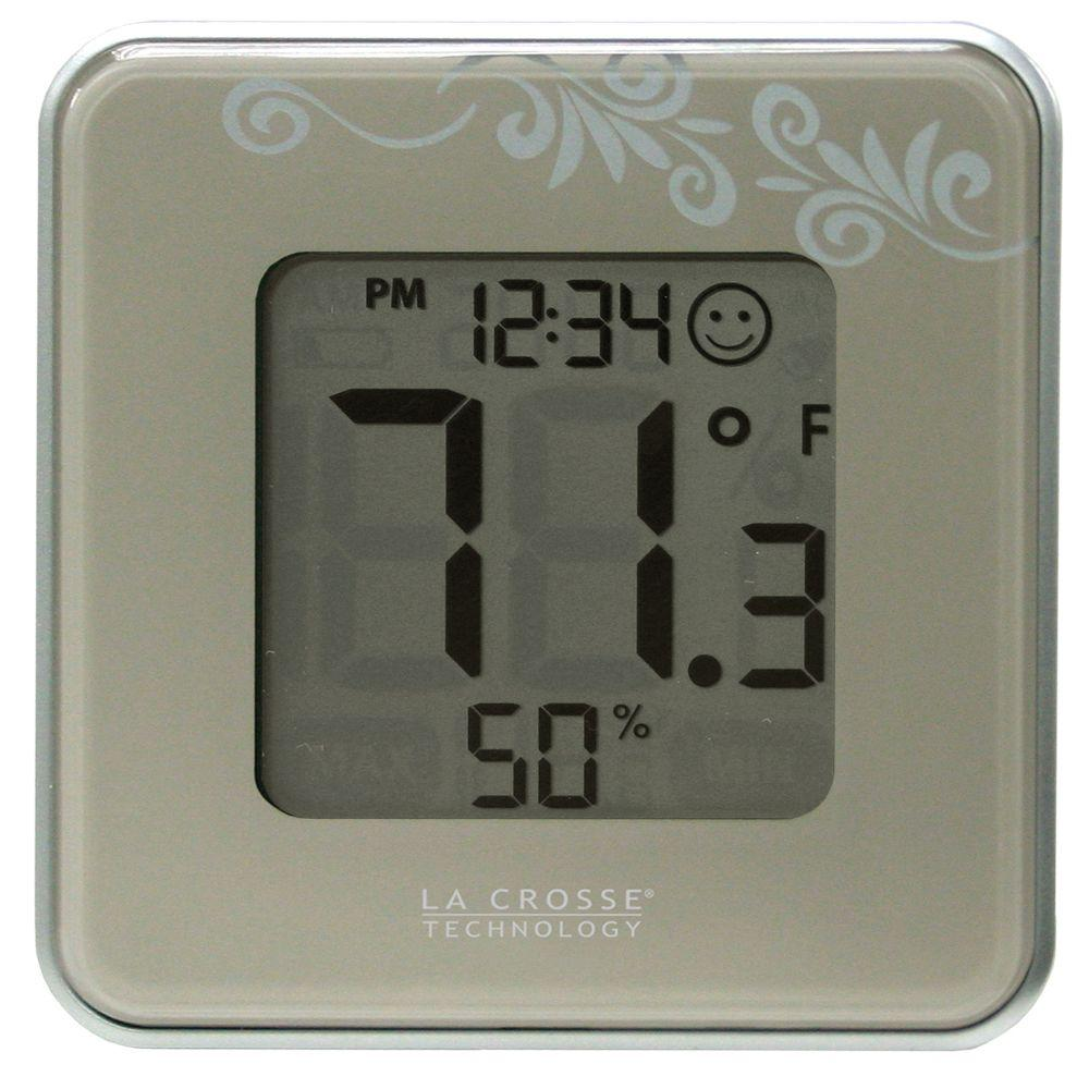 La Crosse Technology Digital Thermometer And Hygrometer In Silver