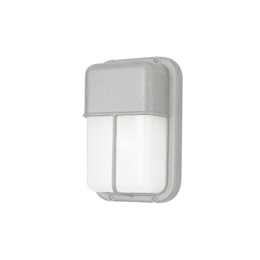 Metro Satin Aluminum 1-Light Outdoor Bulkhead