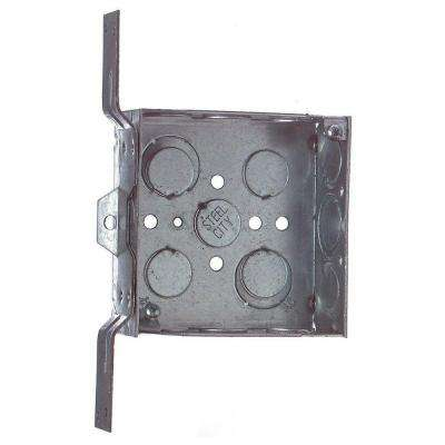 4 in. Square Metal Box with Bracket (Case of 25)
