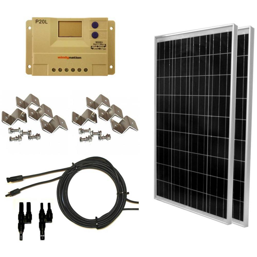 Windynation 200 Watt Off Grid Polycrystalline Solar Panel