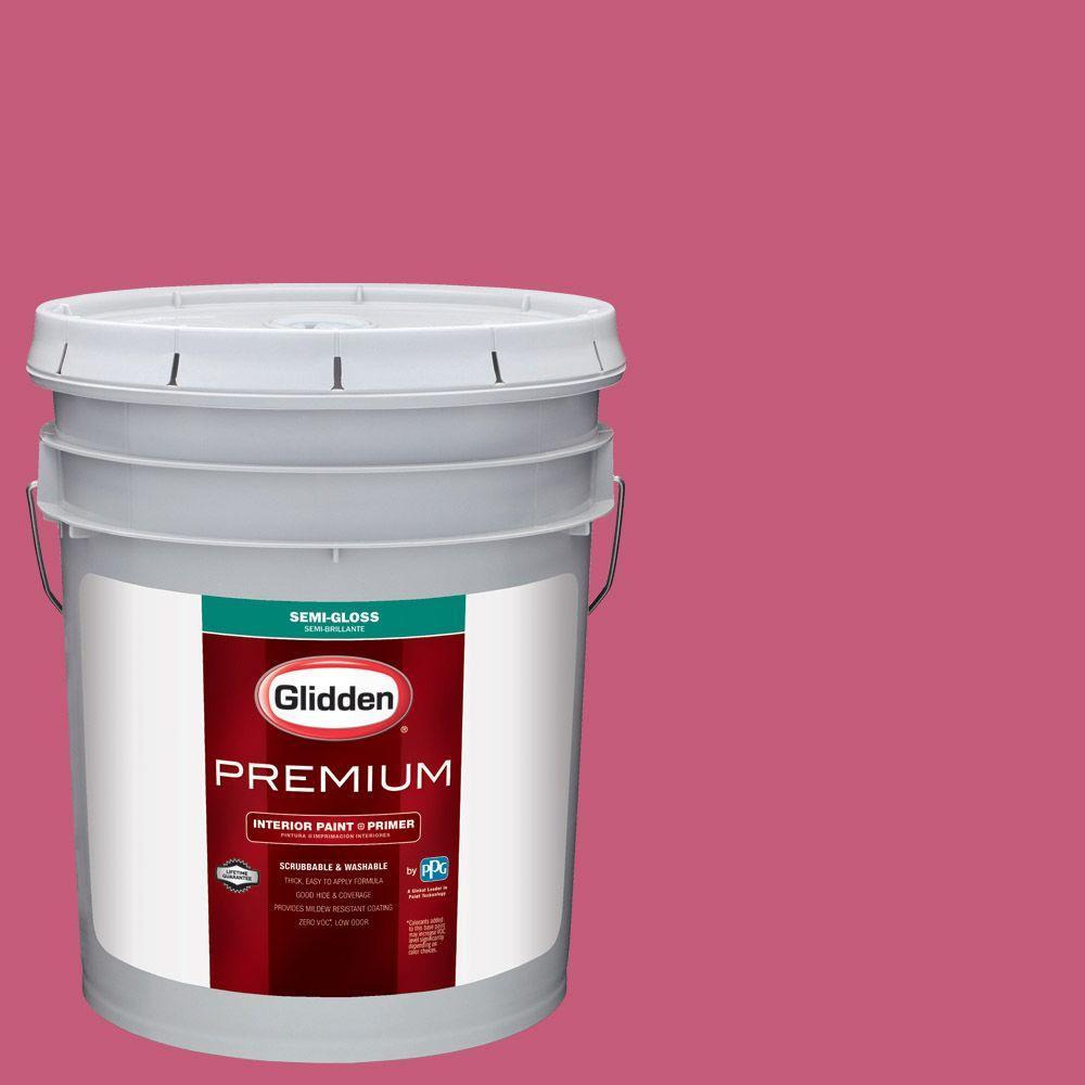 Glidden Premium 5 gal. #HDGR14 Kissable Pink Semi-Gloss Interior ...