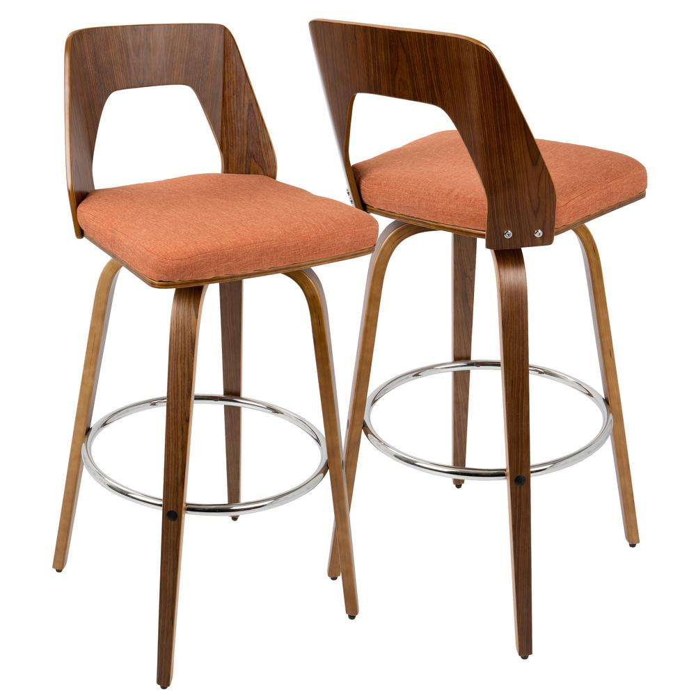Ospdesigns 24 In Swivel Barstool In Espresso Faux Leather