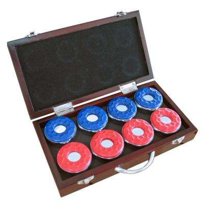 Shuffleboard Pucks with Case (Set of 8)