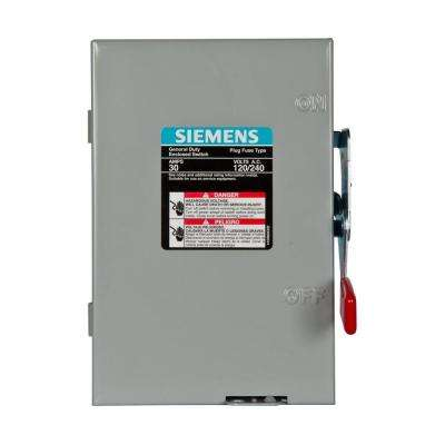 General Duty 30-Amp 240-Volt Double-Pole Indoor Fusible Safety Switch with Neutral