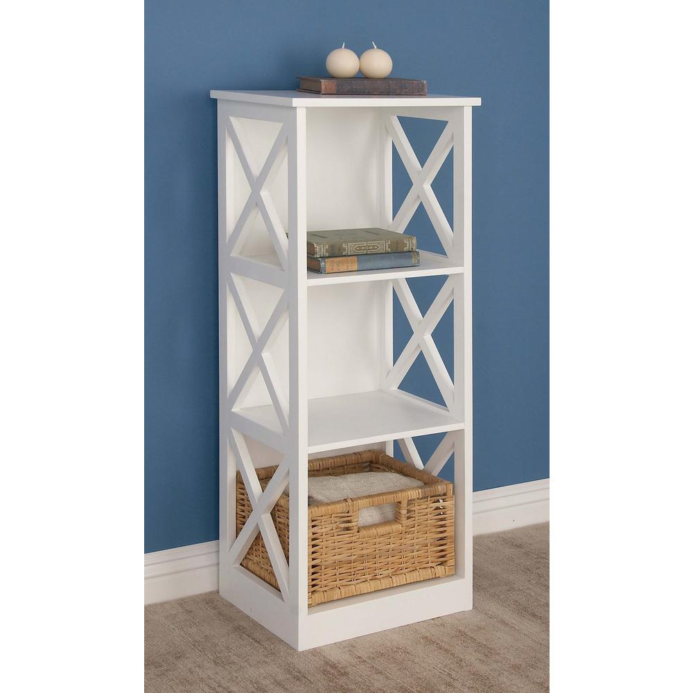 Modern 3 Tier Cube Shelving Unit In White 62684 The Home Depot