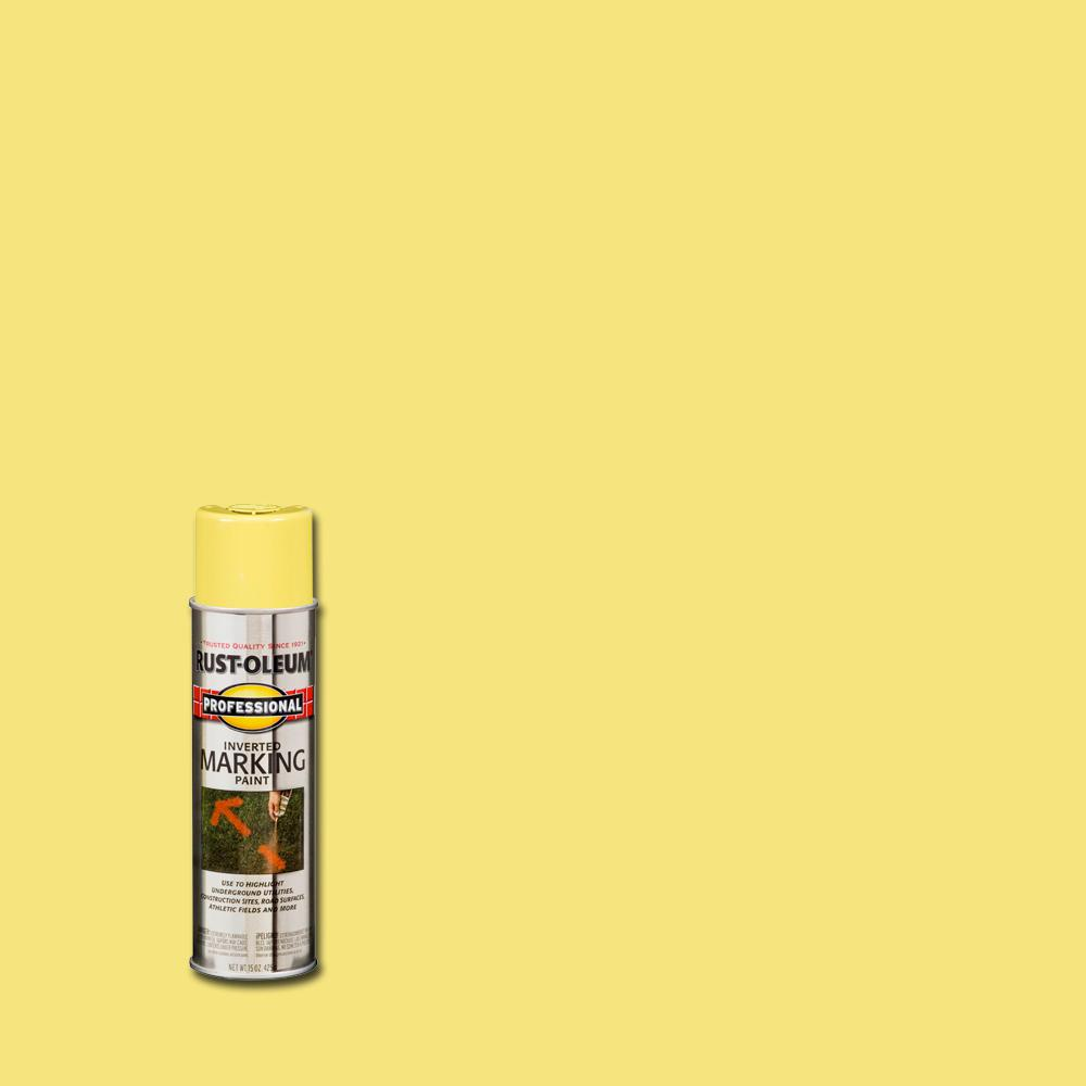 Rust-Oleum Professional 15 oz. High Visbility Yellow Inverted Marking Spray Paint