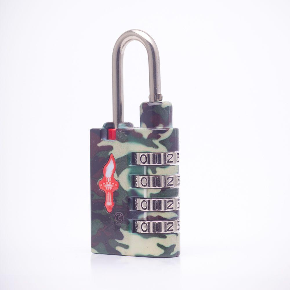 Safe Skies Camouflage 4 Dial TSA Combination Lock in Standard Issue-DISCONTINUED