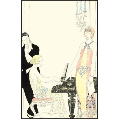 "54 in. x 84 in. ""Arte Deco Fashion I"" by Unknown Canvas Wall Art"
