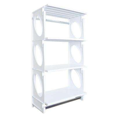 Urban Elite 48 in. H x 25.5 in. W x 14 in. D Closet Shelving Kit in White