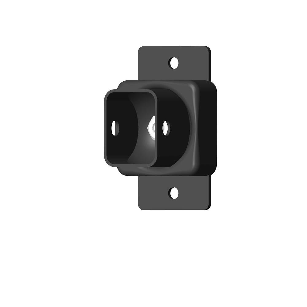 US Door U0026 Fence Pro Series 1.75 In. X 3.25 In. Black Powder Coated Steel  Fence Swivel Mounting Bracket (2 Pack) SMBFUS   The Home Depot