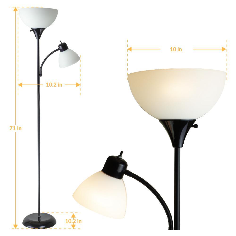 71 In William Torchiere Floor Lamp