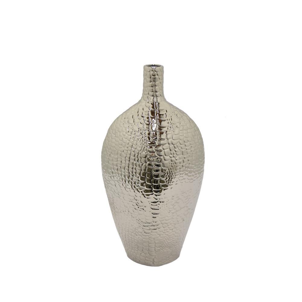THREE HANDS Silver Decorative Vase
