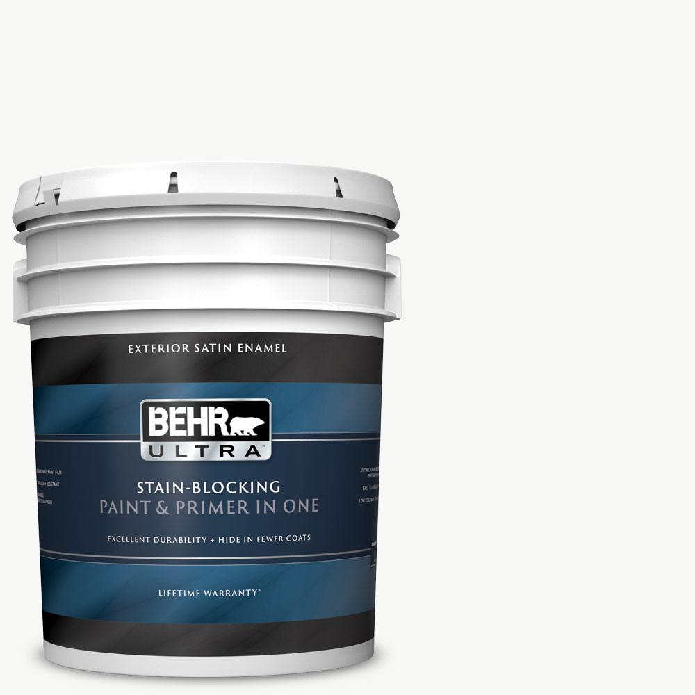 Behr ultra 5 gal ultra pure white satin enamel exterior - Behr ultra exterior paint reviews ...