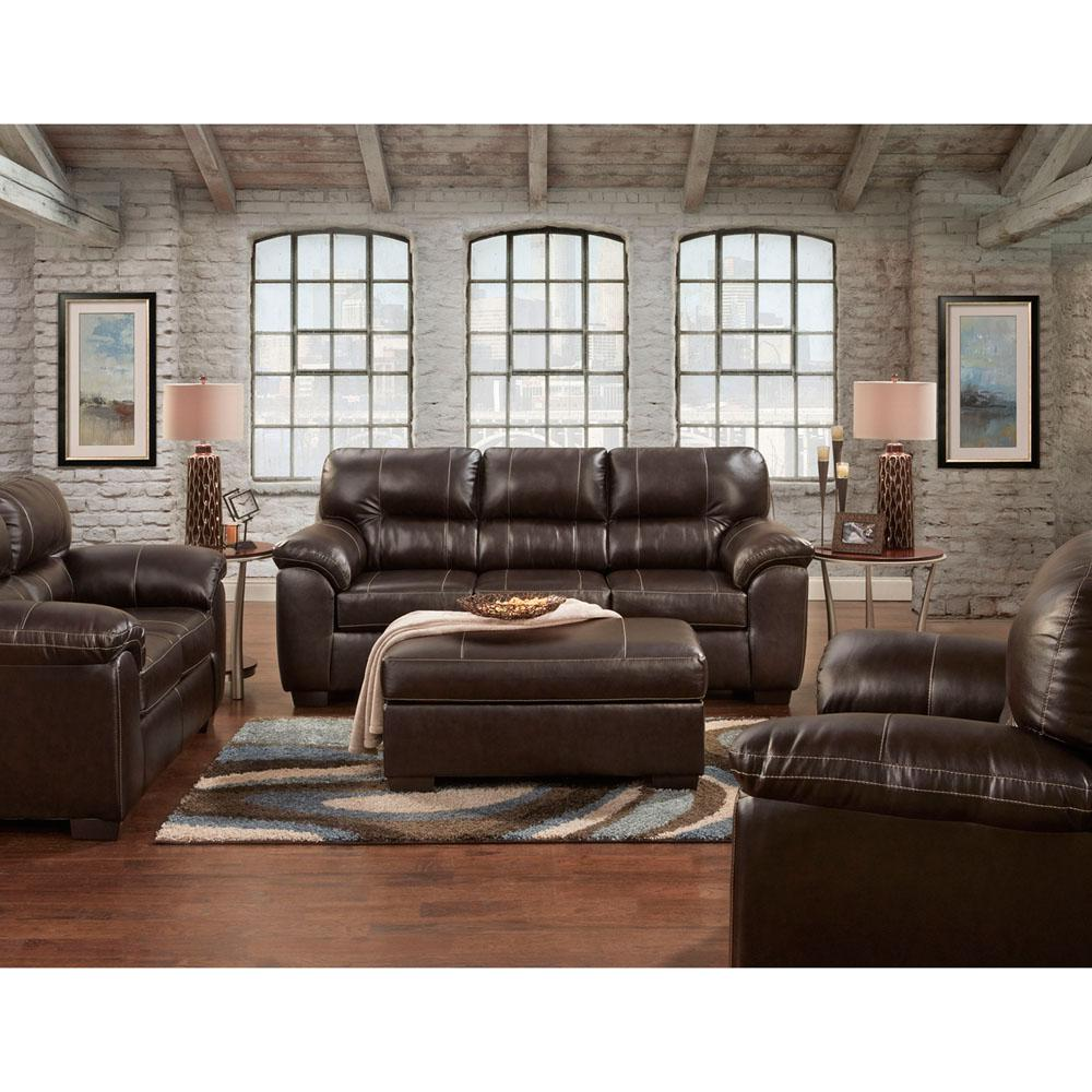 Attractive Tahoe 2 Piece Chocolate Living Room Set: Sofa And Loveseat