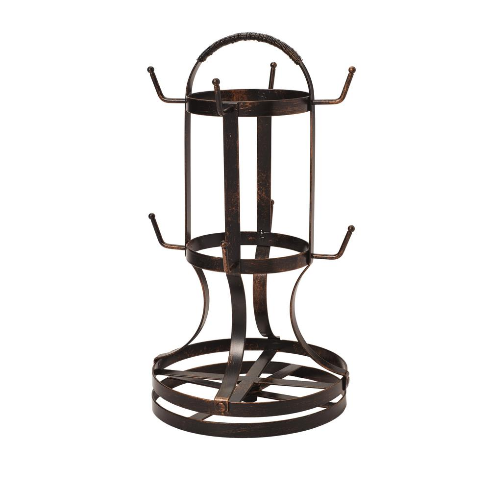 Forged Rotating Mug Tree with Antique Black Finish
