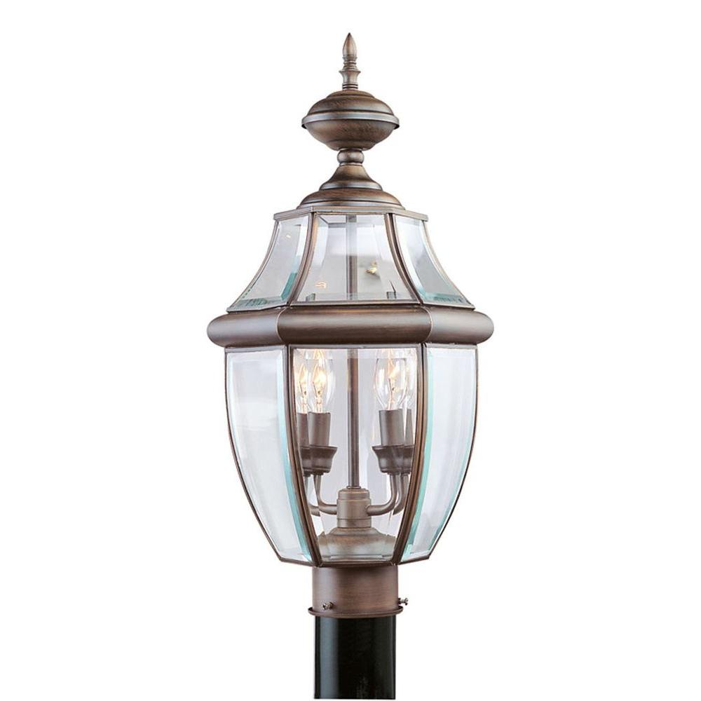 Livex Lighting Providence 2-Light Outdoor Imperial Bronze Incandescent Post Lantern