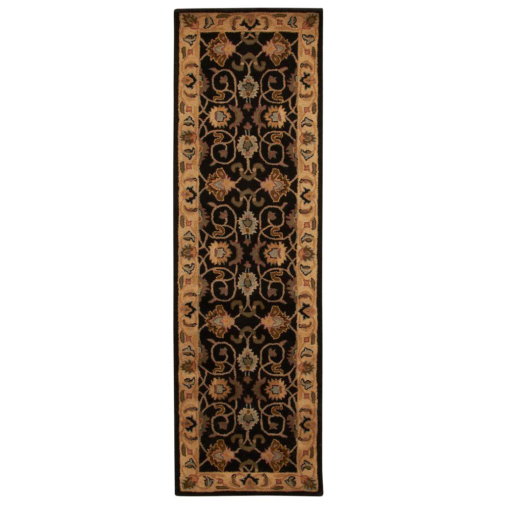 Home Decorators Collection Rochelle Black 2 ft. 3 in. x 7 ft. 6 in. Rug Runner