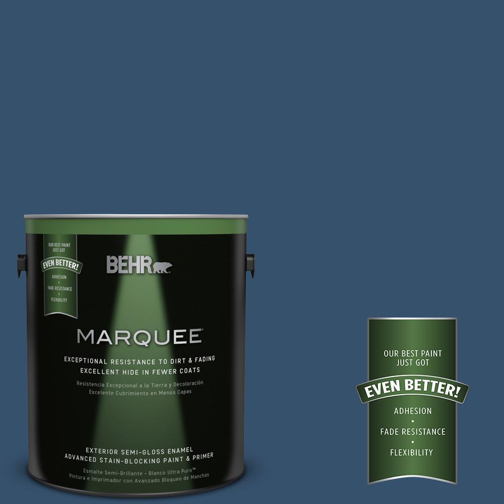 1 gal. #MQ5-58 Velvet Rope Semi-Gloss Enamel Exterior Paint and Primer