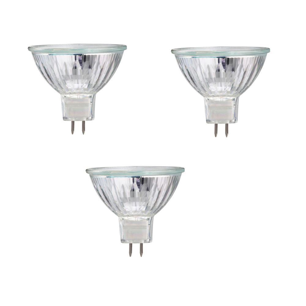 50-Watt Halogen MR16 Dimmable Flood Light Bulb (3-Pack)