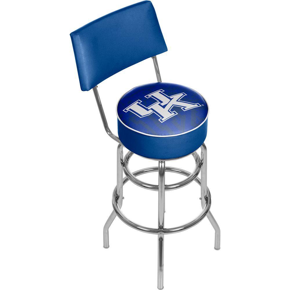 Trademark Global University Of Kentucky Fade 31 In Chrome Padded Bar Stool