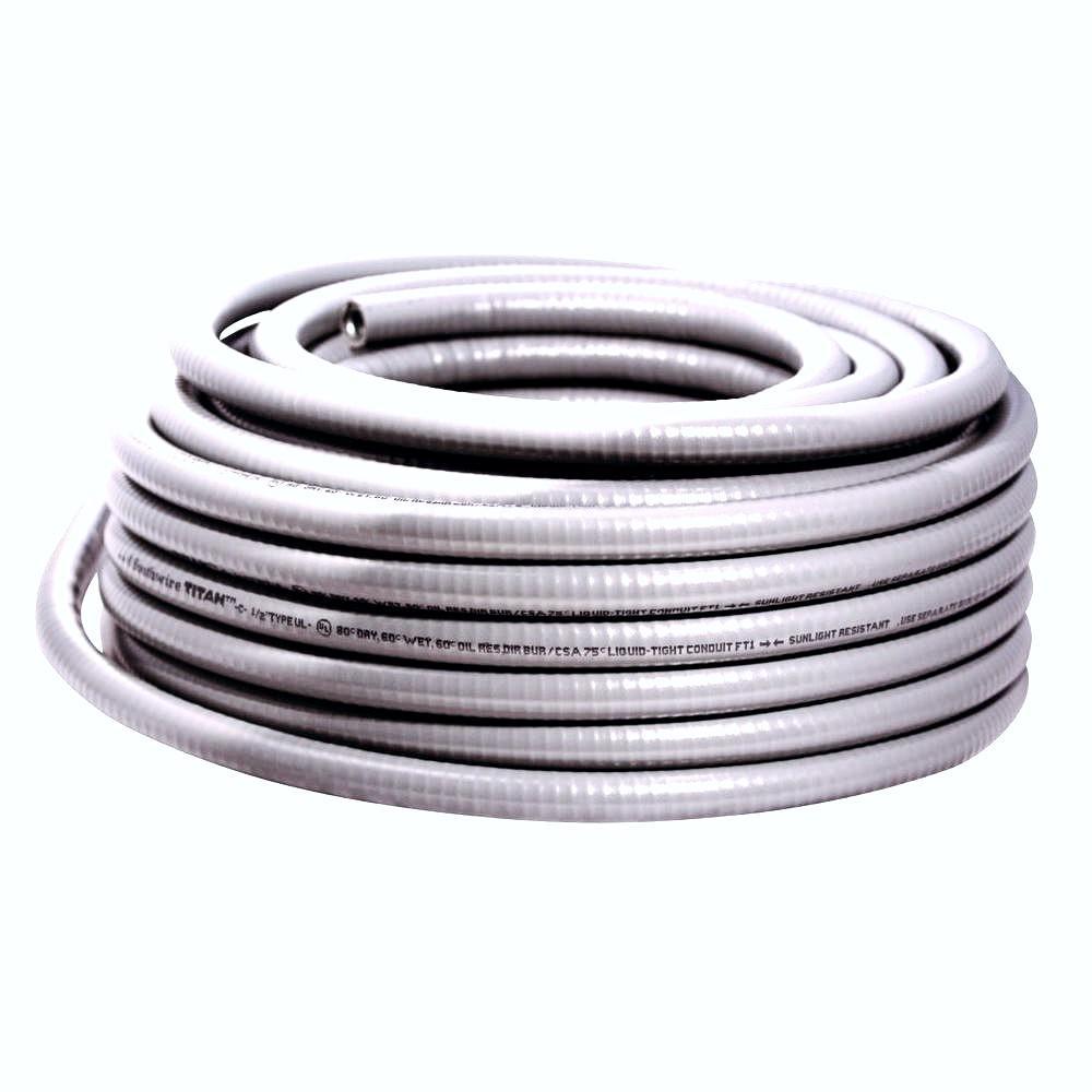 Southwire 2 in. x 50 ft. Liquidtight Flexible Metallic Titan Steel Conduit