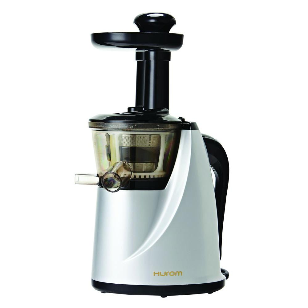null Slow Juicer Model HU-100S New Silver with Cookbook