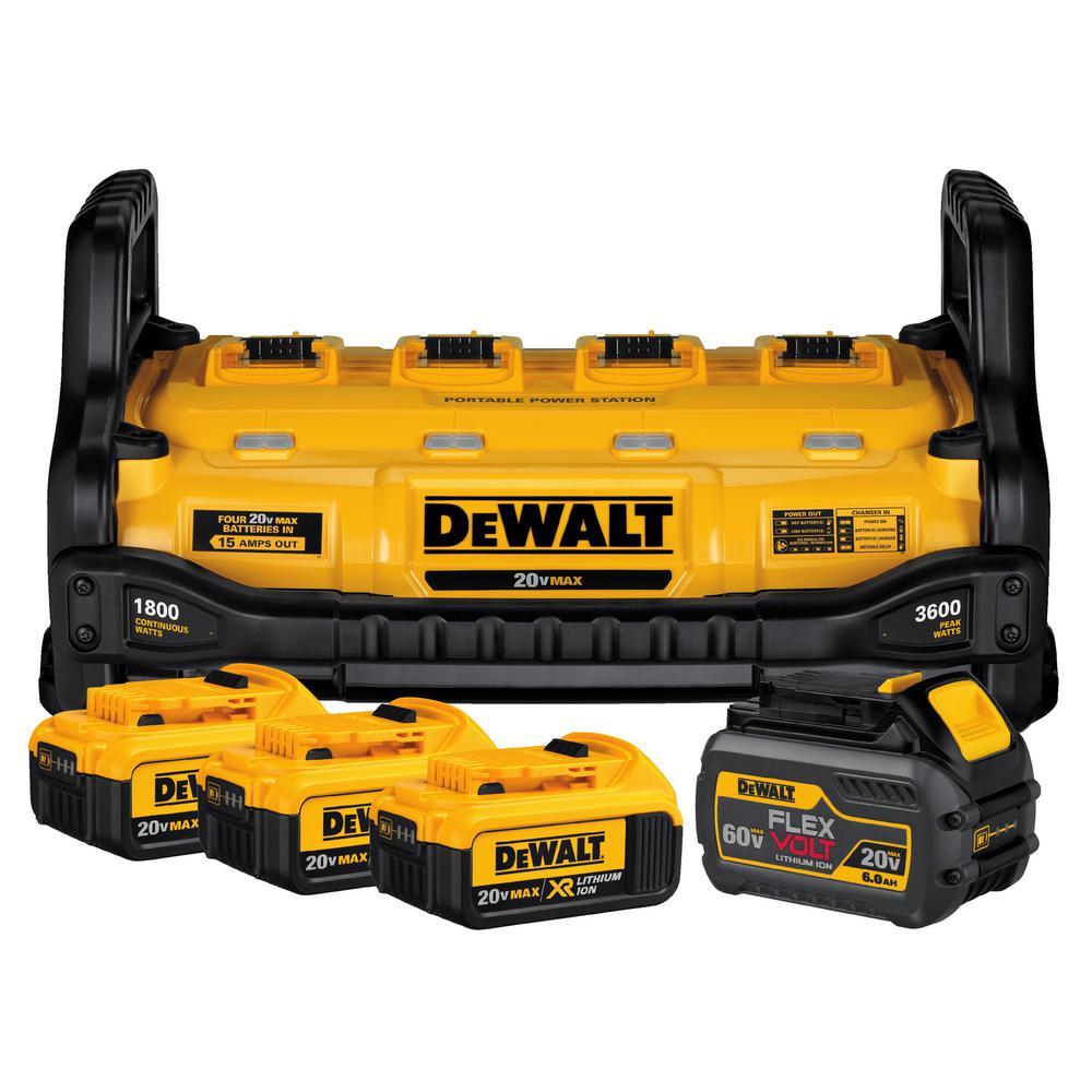 Dewalt 1800 Watt Portable Power Station And 20 Volt 60