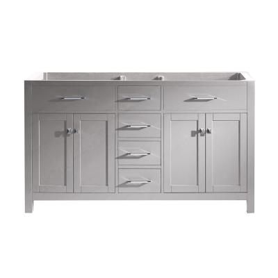 Caroline 60 in. W Bath Vanity Cabinet Only in Cashmere Gray