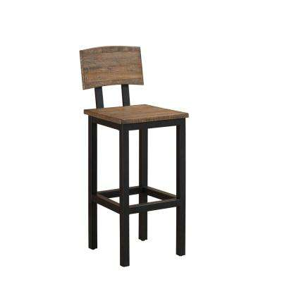 Gateway 30 in. Gray Bar Height Stool