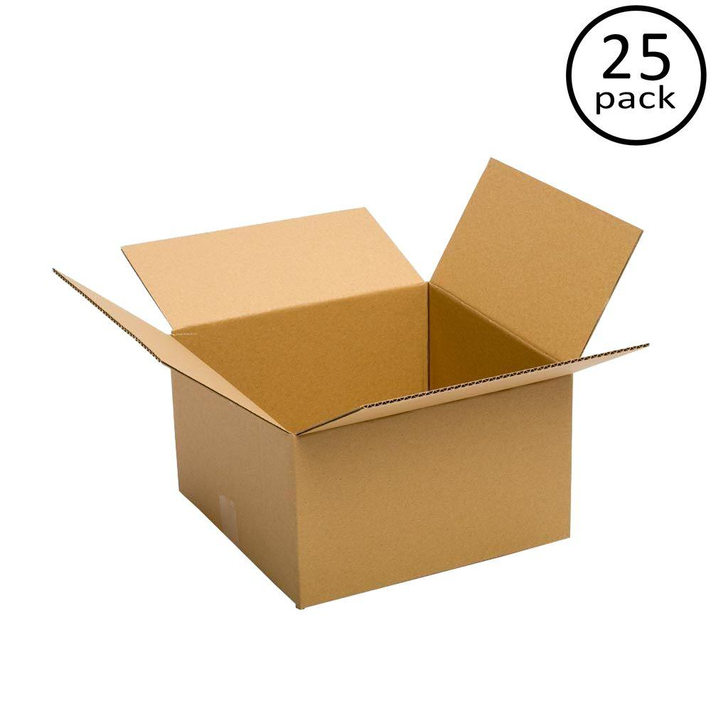 Plain Brown Box 14 in. x 14 in. x 6 in. 25 Moving Box Bundle