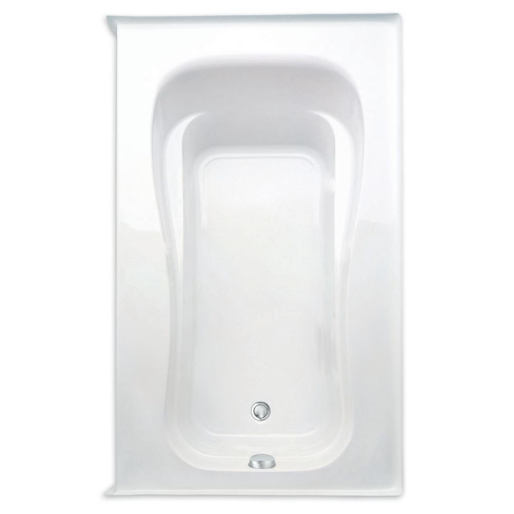 Novelli 60 in. Acrylic Right Drain Rectanglular Alcove Soaking Bathtub in White