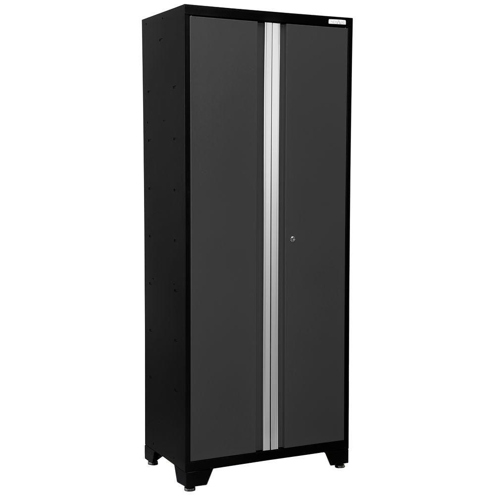 NewAge Products Bold 3 Series 77 in. H x 30 in. W x 18 in. D 24-Gauge Welded Steel 30 in. Multi-Use Locker in Gray
