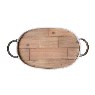 20.5 in. Oval Galvanized Tray