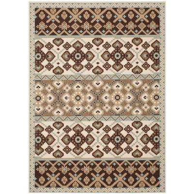 Veranda Cream/Chocolate 5 ft. x 8 ft. Indoor/Outdoor Area Rug