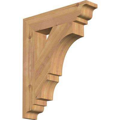 3.5 in. x 22 in. x 18 in. Western Red Cedar Balboa Traditional Smooth Bracket