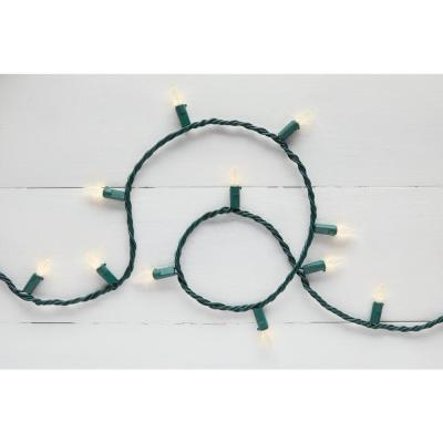 16.33 ft. 50-Light Warm White LED Faceted C3 Super Bright Constant-On Light String
