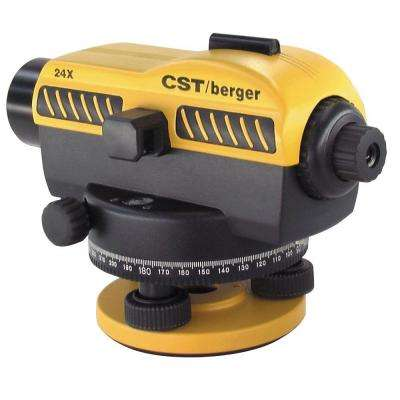 Exterior Automatic Laser Level with 24X Magnification and Hard Shell Carrying Case