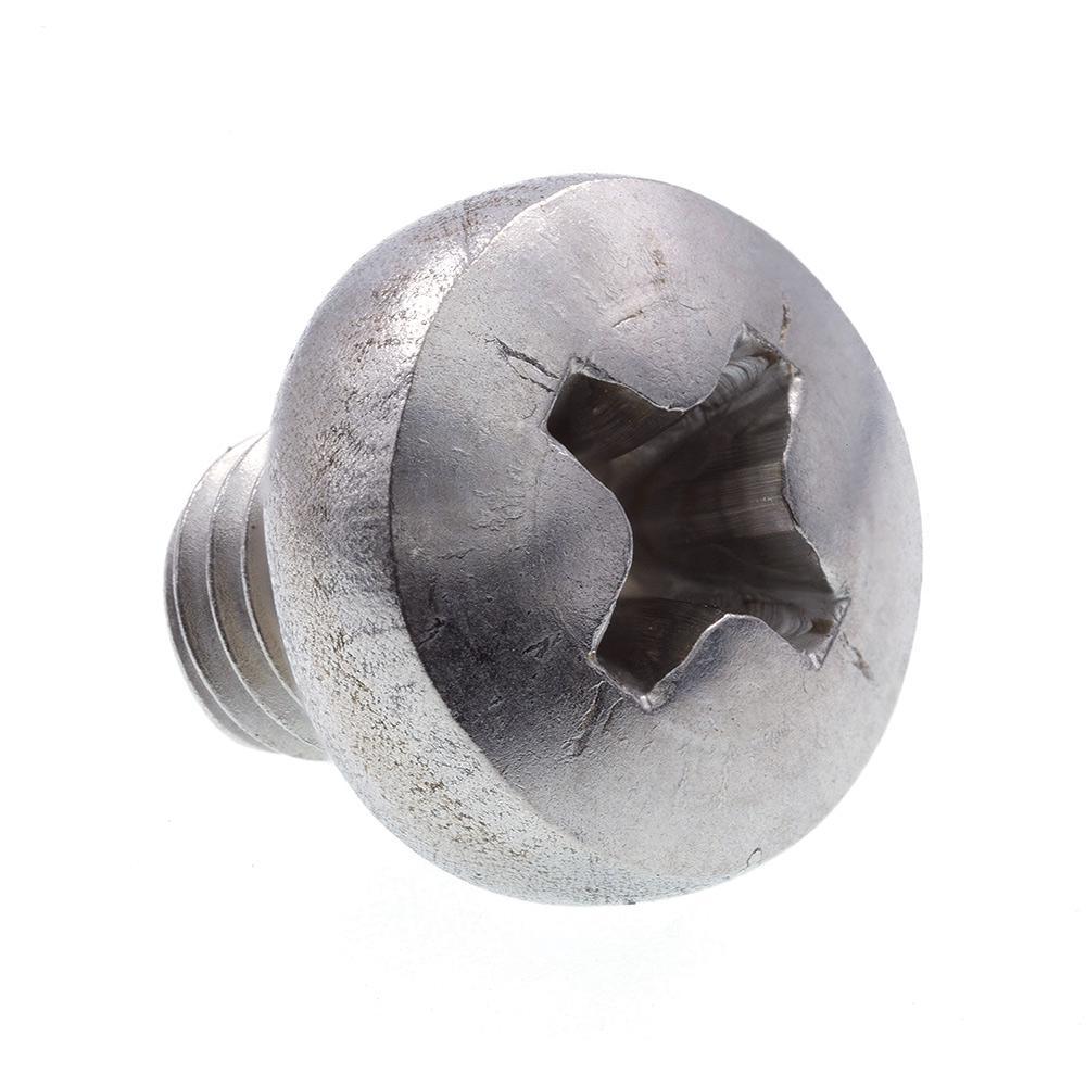 M5-0.8 x 6 mm Grade A2-70 Metric Stainless Steel Phillips Drive Pan Head Machine Screws (10-Pack)