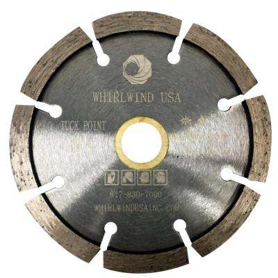 4 in. 8-Teeth Segmented Tuck Point Diamond Blade for Dry or Wet Cutting Concrete and Mortar