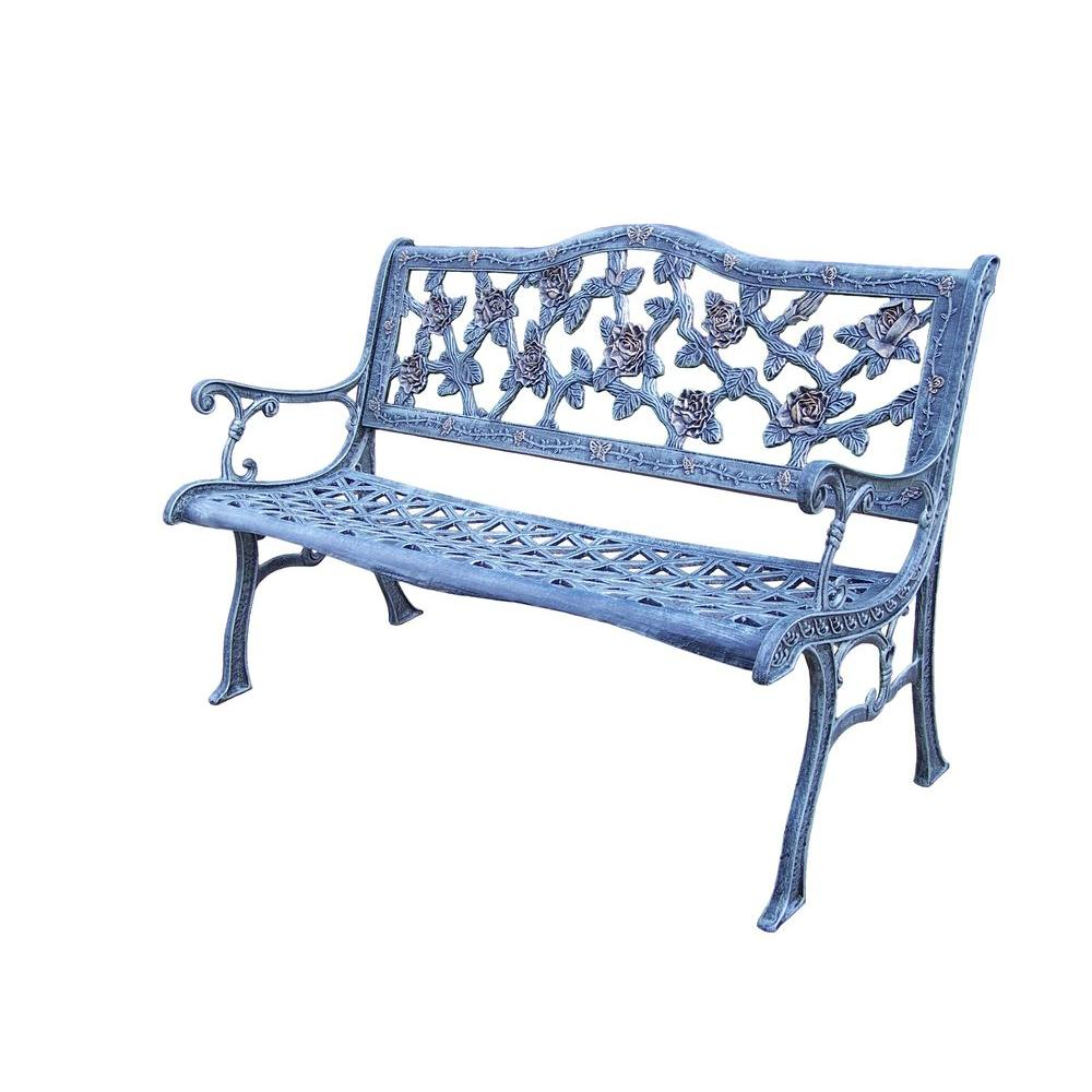 Oakland Living English Rose Cast Aluminum Patio Bench