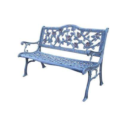English Rose Cast Aluminum Patio Bench