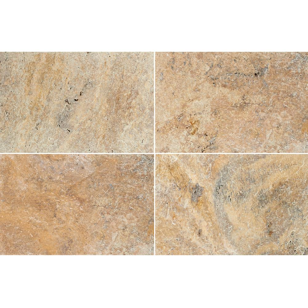 MSI Tuscany Scabas 16 in. x 24 in. Tumbled Travertine Paver Tile (15 Pieces / 40.05 Sq. ft. / Pallet)
