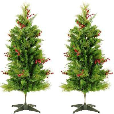 4 ft. Newberry Pine Artificial Trees (2-Set)